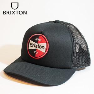 BRIXTON,ブリクストン/21SU/CAP・メッシュキャップ/PATRON MP MESH CAP/BLACK・ブラック/フリーサイズ/ユニセックス/ロゴ/ワッペン/5パネル|selfishsurf