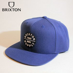 BRIXTON,ブリクストン/21SU/CAP,キャップ/OATH III SNAPBACK/JOE BLUE・ブルーフリーサイズ/メンズ/ワッペン|selfishsurf