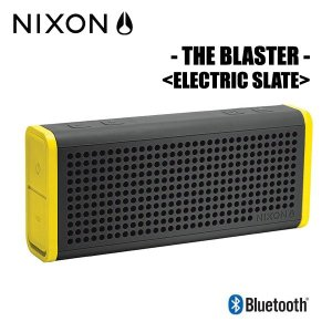 NIXON,ニクソン/ポータブルワイヤレススピーカー/THE BLASTER/NH0281807-00/ELECTRIC SLATE,ブラック×イエロー|selfishsurf