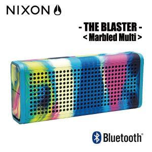 NIXON,ニクソン/ポータブルワイヤレススピーカー/THE BLASTER/NH0281610-00/MARBLED MULTI,マーブルマルチ|selfishsurf
