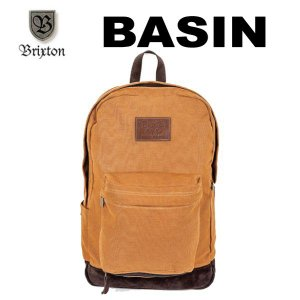 BRIXTON,ブリクストン/2013年FALL/BACKPACK・バックパック・リュックサック/BASIN BACK PACK/BROWN/ブラウン|selfishsurf