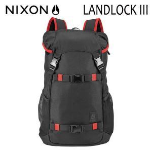 【P10倍】NIXON,ニクソン/BACKPACK・バックパック・リュックサック/LANDLOCK 3/33L/NC2817008-00/BLACK/RED・ブラック×レッド/ユニセックス|selfishsurf