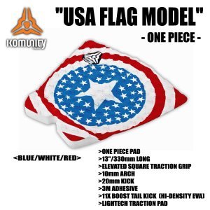KOMUNITY PROJECT,コミュニティー プロジェクト/DECK PAD,TRACTION,デッキパット/USA FLAG 1PIECE MODEL-330MM-/BLUE/WHITE/RED selfishsurf