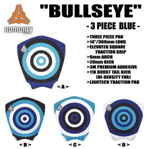 KOMUNITY PROJECT,コミュニティー プロジェクト/DECK PAD,TRACTION,デッキパット/BULLSEYE 3PIECE MODEL-BLUE/4カラーよりお選びください selfishsurf