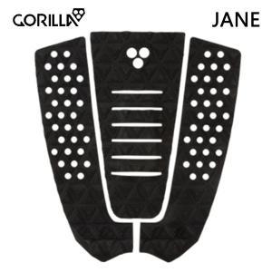 GORILLA GRIP,ゴリラグリップ/デッキパット,デッキパッチ/THE JANE/BLACK・ブラック/3ピースパッド/サーフィン/サーフボード selfishsurf