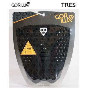 GORILLA GRIP,ゴリラグリップ/デッキパット,デッキパッチ/18NEW/TRES/BLACK・ブラック/3ピースパッド/サーフィン/サーフボード selfishsurf