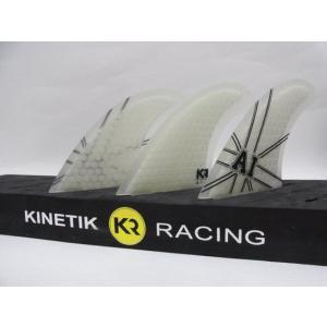 KINETIK RACING FIN・KRフィン/ULTRA COREシリーズ/ANDY ULTRA CORE・アンディアイアンシグネイチャーモデル/CLEAR・クリア/Mサイズ/65-80kg selfishsurf