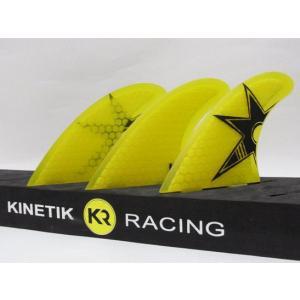 KINETIK RACING FIN・KRフィン/ULTRA COREシリーズ/BRUCE ULTRA CORE・ブルースアイアンシグネイチャーモデル/YELLOW・イエロー/S-Mサイズ/55-75kg selfishsurf