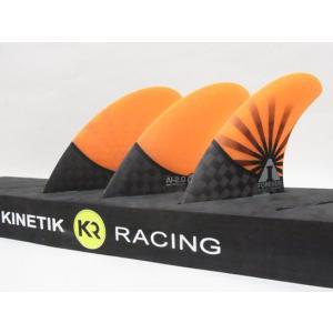 KINETIK RACING FIN・KRフィン/CARBO TUNEシリーズ/AI FOREVER-SMALL・アンディアイアンシグネイチャーモデル/CARBONxORANGE/Sサイズ/45-65k selfishsurf