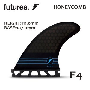 Future Fin,フューチャーフィン/FIN,トライフィン/スタンダードサイズ/RTM HEX シリーズ/RTM HEX F4/SMOKE/Sサイズ/47-70kg|selfishsurf