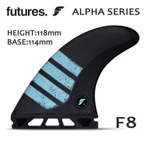 Futures. Fin,フューチャーフィン/FIN,トライフィン/ALPHAシリーズ/ALPHA F8/CARBON/CARBON/GREEN/Lサイズ/80kg-|selfishsurf