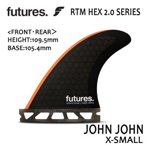 Future Fin,フューチャーフィン/FIN,トライフィン/John John Florence/RTM HEX 2.0 JOHN JOHN/BLACK/ORANGE/GROM/XS/ショートボード/日本正規代理店品|selfishsurf