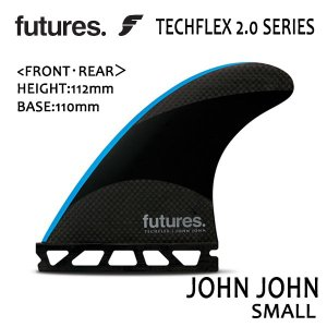 Future Fin,フューチャーフィン/トライフィン/John John Florenceシグネチャー/TECHFLEX 2.0 JOHN JOHN/BLACK/BLUE/Sサイズ/ショートボード/日本正規代理店品|selfishsurf