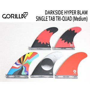 GORILLA FIN/SINGLE TAB・FUTURE,フューチャータイプ/TRI-QUAD,5FINトライ&クワッドフィン/DARKSIDE HYPER BLAM TRI-QUAD FIN SET/Mサイズ/65-80kg|selfishsurf