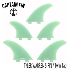 CAPTAIN FIN・キャプテンフィン/5FIN/タイラーウォーレン /TYLER WARREN 5-FIN ・CFF4411833/TWIN TAB・FCS/ファイバーグラス selfishsurf