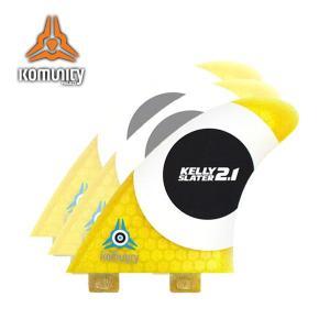 KOMUNITY PROJECT,コミュニティープロジェクト/FIN,トライフィン/K2.1,ケーツーワン/KELLY SLATER FIN,ケリースレーターフィン/FCSタイプ/ハニカムイエロー|selfishsurf