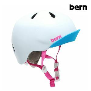 【ポイント10倍】BERN,バーン/ヘルメット/KIDS・キッズ(子供用)/オールシーズン対応/NINA/SATIN WHITE VISOR・サテンホワイト/XS/S・S/Mサイズ|selfishsurf