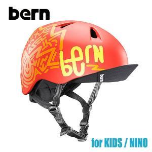 BERN,バーン/ヘルメット/KIDS・キッズ(子供用)/オールシーズン対応/NINO/MATTE ORANGE PATTERN・マットオレンジパターン/XS/S・S/Mサイズサイズ|selfishsurf