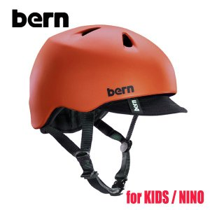 BERN,バーン/ヘルメット/KIDS・キッズ(子供用)/オールシーズン対応/NINO/MATTE RED VISOR ・マットレッド/XS/S・S/Mサイズサイズ|selfishsurf