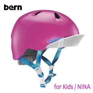 BERN,バーン/ヘルメット/KIDS・キッズ(子供用)/オールシーズン対応/NINA/SATAIN HOT PINK・サテンホットピンク/XS-S・S-Mサイズ|selfishsurf