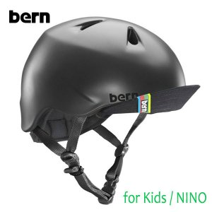 BERN,バーン/ヘルメット/KIDS・キッズ(子供用)/オールシーズン対応/NINO/MATTE BLACK・マットブラック/自転車/キッズバイク/スケート|selfishsurf