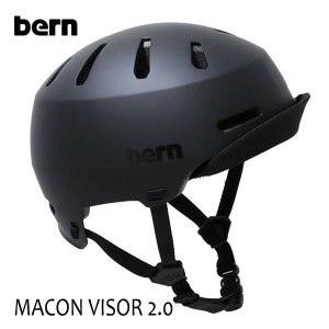 BERN,バーン/ヘルメット/MENS・メンズ(大人用)/オールシーズン対応/MACON VISOR 2.0/MATTE BLACK・マットブラック/自転車/スケート|selfishsurf