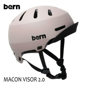 BERN,バーン/ヘルメット/MENS・メンズ(大人用)/オールシーズン対応/MACON VISOR 2.0/MATTE SAND・マットサンド/自転車/スケート|selfishsurf