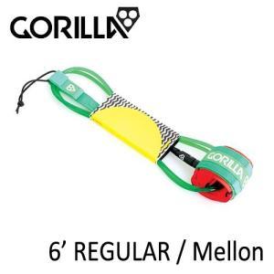 GORILLA,ゴリラ/LEASH,リーシュコード/2015年NEW/ショートボード用レギュラーリーシュ/REGULAR 6'/Melon|selfishsurf