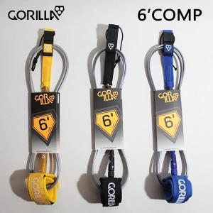 GORILLA,ゴリラ/LEASH,リーシュコード/18/ショートボード用コンペリーシュ/COMP 6'/3カラー/サーフアクセサリー/サーフィン/日本正規代理店品|selfishsurf