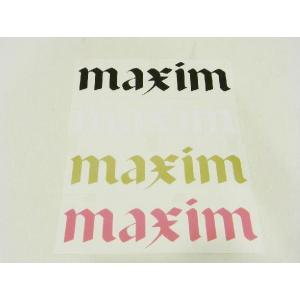 MAXIM CRAFTSUITS,マキシム/ステッカー/テクシオンロゴステッカー/ブラック・ホワイト・ゴールド・Kピンク selfishsurf