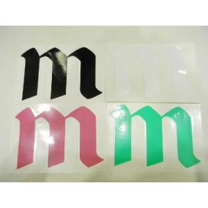 MAXIM CRAFTSUITS,マキシム/ステッカー/Mロゴステッカー/ブラック・ホワイト・Kピンク・Kグリーン/サーフィン/ウェットスーツ selfishsurf