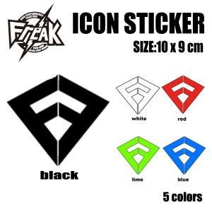 FREAK,フリーク/カッティングシート/ステッカー/CUTTING ICON STICKER/10×9cm/5カラーからお選びください/アイコン/サーフィン/マーク/サーフボード selfishsurf
