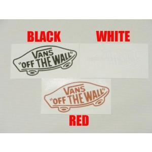 "VANS,バンズ/海外限定・日本未発売/カッティングステッカー/4""THERMAL DIE CUT OTW SKATE/ブラック・ホワイト・レッド/5x10cm selfishsurf"