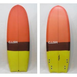 """CASH SURFBOARDS・キャッシュサーフボード/R2D2モデル・ミニシモンズ/QUAD・4フィン/5'2""""(157.48cm)-53.34cm-6.99cm/FCS・フィン付き selfishsurf"""