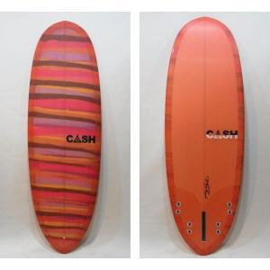 "CASH SURFBOARDS・キャッシュサーフボード/POCKETモデル・High Performance Hull/5プラグ・BOX+FCS:QUAD/5'6""(167.64cm)-53.34cm-6.99cm selfishsurf"