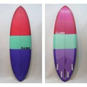 "CASH SURFBOARDS・キャッシュサーフボード/Deuceモデル・High Performance Double Ender/5プラグ・BOX+FUTURE:QUAD/6'2""(188.0cm)-53.34cm-6.35cm selfishsurf"