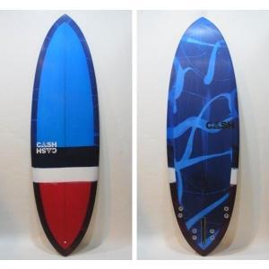 "CASH SURFBOARDS/Deuceモデル・High Performance Double Ender/5プラグ・BOX+FCS:QUAD/6'2""(188.0cm)-53.34cm-6.83cm/BOX+FCS FINボックスタイプ selfishsurf"
