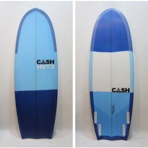 """CASH SURFBOARDS・キャッシュサーフボード/R2D2モデル・ミニシモンズ/QUAD・4フィン/5'2""""(157.48cm)-52.07cm-7.30cm/FUTUREタイプ selfishsurf"""