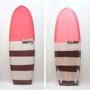 """CASH SURFBOARDS・キャッシュサーフボード/R2D2モデル・ミニシモンズ/QUAD・4フィン/5'4""""(162.56cm)-52.71cm-6.67cm/FUTUREタイプ selfishsurf"""