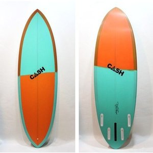 "CASH SURFBOARDS/ZPモデル・Moden High Performance/5プラグ・BOX+FUTURE:QUAD/5'8""(172.72cm)-50.17cm-6.19cm/BOX+FUTUREボックスタイプ selfishsurf"