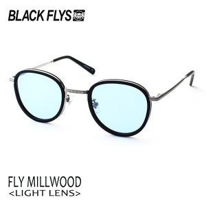BLACKFLYS,ブラックフライ/19/FLY MILLWOOD,フライミルウッド ノーマルレンズ/BF-1601-03/MATTE BLACK-SILVER/LIGHT BLUE/サングラス/ユニセックス/|selfishsurf