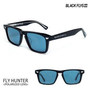 BLACKFLYS,ブラックフライ/21/FLY HUNTER Polarized,フライハンター偏光レンズ/BF-1254-05/BLACK/LIGHT BLUE POL/ウェリントン/サングラス/7SPOT|selfishsurf