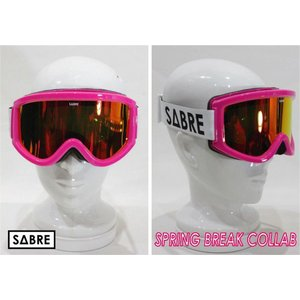 SABRE,セイバー/スノーゴーグル/2013年冬新作/SPRING BREAK COLLAB/SN1302-29437/HOT PINK/RED REFLECTIVE BRONZE BASED|selfishsurf