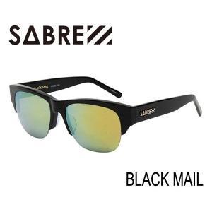 SABRE,セイバー/サングラス/2015年SPRING新作/BLACK MAIL・ブラックメール/SV236-115J/GROSS BLACK×GREEN MIRROR LENS selfishsurf