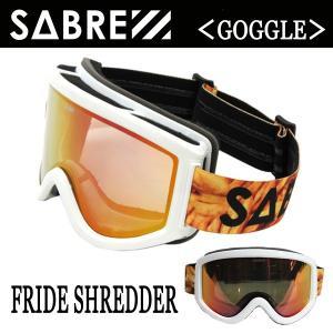 SABRE,セイバー/スノーゴーグル/2015-16年冬新作/FRIED SHREDDER/SVG1506WT/WHITE-GLOSS/BRONZE BASED-RED REFLECTIVE LENS selfishsurf