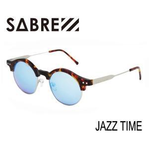SABRE,セイバー/サングラス/JAZZ TIME・SV254-226J/TORT-MATTE SILVER/BLUE MIRROR LENS selfishsurf