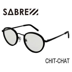 SABRE,セイバー/2015年SUMMER新作/CHIT-CHAT・SV241-19712J/MATTE BLACK-BLACK METAL/CLEAR LENS selfishsurf