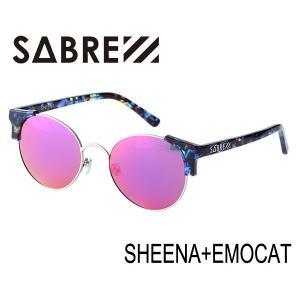 SABRE,セイバー/SHEENA + EMO CAT・SV207-3003J/BLUE TORT-SILVER METAL / PURPLE MIRROR LENS|selfishsurf