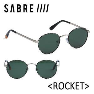 SABRE,セイバー/サングラス/17FA/ROCKET・ロケット/SS7-503SM-CGRN-J/SILVER METAL/CAMO/GREEN LENS|selfishsurf