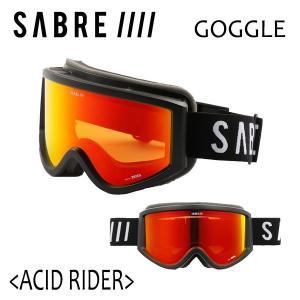 SABRE,セイバー/GOGGLE,スノーゴーグル/18-19年冬新作/ACID RIDER/SVG1801BKRD/MT BLACK/LOGO/SONAR RED/Carl Zeiss社製ハイコントラストレンズ|selfishsurf